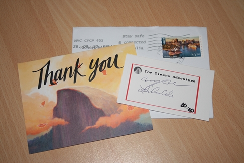 Post from Australia! A nice thank you card and the signature sticker.