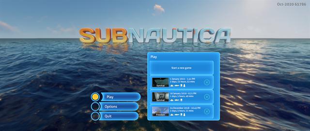 Subnautica title screen